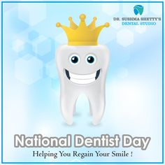 Dentists Help you Regain your Lost Smile making sure that you go with a Wide. Sushma Shetty's Dental Studio For Appointment : Vakola, Santacruz (E) Dental Studio, Dentist Day, Appointments, Dentists, Smile, Happy Healthy, Mumbai, How To Make, Lost