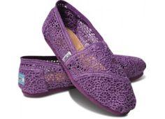 Purple crochet Toms -- perfect summer shoes.