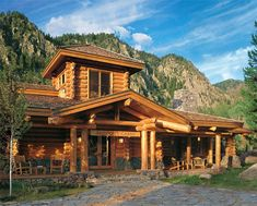 32 best Luxury Log Homes - Beautiful Living images on Pinterest ...