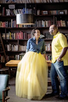 Jupon en tulle : Our Yellow Maxi Tutu Cute Skirt was a great pick for this yellow and denim coord Yellow Tutu, Yellow Maxi, Yellow Dress, Skirt Outfits, Dress Skirt, Adult Tulle Skirt, Adult Tutu, Tulle Wedding Skirt, Tutu Rock