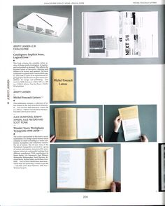 Turning pages: Editorial design for print media. Berlin: Gestalten. Stage 03 outcome inspiration. Use of semi loose sheets of a portrait book printed in landscape to repsent the size of a monitor.