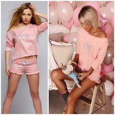 Женские комплекты для сна от ТМ Sensis Ваш стильный и неповторимый образ дома #пижама #пижамы #комплект #коплектдлясна #пижамыхлопок #пижамыженские #нижнеебелье #одежда #женскаяодежда #домашняяодежда #одеждадлясна #Sensis Pyjamas, Pjs, Babydoll Lingerie, Sport Wear, Night Outfits, Sports Women, Baby Dolls, White Shorts, Underwear
