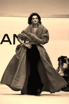 Ines at A/W 1987-8 Chanel Couture show