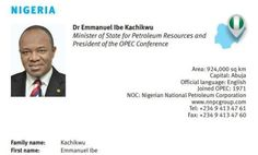 Ekpo Esito Blog: Ibe Kachikwu replaces former minister Diezani Alis...