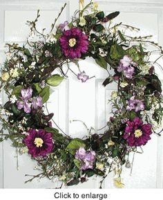 20 Wreaths For Spring Ideas Wreaths Floral Wreath Spring Wreath