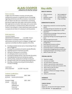 Administrative assistant resume should be well noticed if you want this professionally designed administrative assistant resume shows a candidates ability to provide clerical support and resolve altavistaventures Images