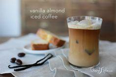 Vanilla almond iced coffee
