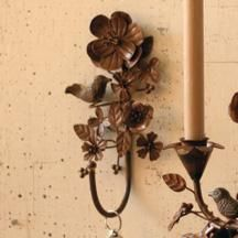 rustic iron leaves and flowers hook- West End