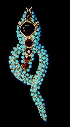 Kenneth J. Lane Turquoise  snake ring