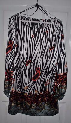 BCBG Maxazria Women PRINTED TUNIC CASUAL PARTY LONG SLEEVE DRESS Sz. XS #BCBGMAXAZRIA #Tunic #Casual