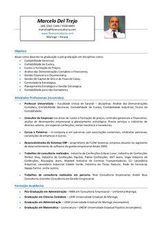 Currículo do Professor Marcelo Del Trejo voltado às IES (Instituições de Ensino Superior) com o objetivo de docência.