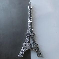 Torre Eiffel cadena arte por JBstringart en Etsy