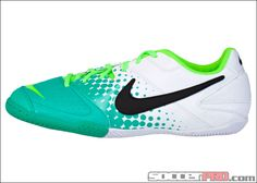 Nike5 Elastico Indoor Soccer Shoes - White with Electric Green...$49.49