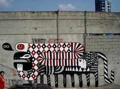 "Saatchi Online Artist Fefe Talavera; Street Art, ""Vamos Juntos"" #art"