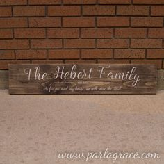 Family Name Sign $35 As for me and my house 8x36 by ParLaGrace