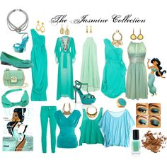 The Princess Jasmine Collection  Match the Grace Adele Teal Laguna or Lyra Collection to any of these pieces.