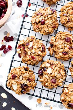 Gluten Free Trail Mix Cookies (V+GF): an easy recipe for chewy and satisfying…
