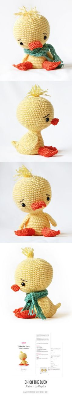Chico the Duck amigurumi pattern