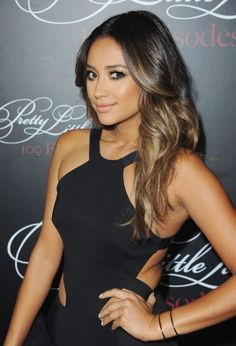 Long brown wavy hair Shay Mitchell