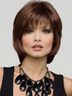 Chin-length Medium Haircut with bangs