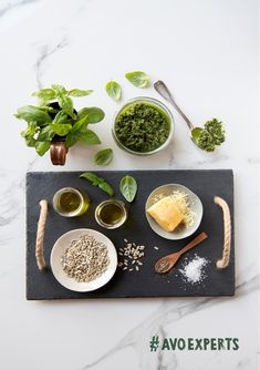 Looking for a good pesto recipe? Let the show you how we put a twist on this Italian classic. Pecorino Cheese, Fresh Basil Leaves, Pesto Recipe, Basil Pesto, Fresh Garlic, Avocado Oil, In The Flesh, I Foods, Food Styling