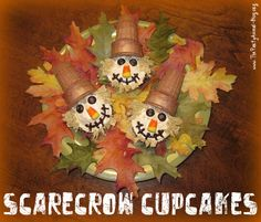 These would be great for the Kids Halloween Party, Scarecrow Stuffing Party, Thanksgiving Day Dessert or just a fun Fall Treat! Scarecrow Crafts, Fall Scarecrows, Scarecrow Party, Fall Crafts For Kids, Family Crafts, Autumn Crafts, Kids Crafts, Holiday Crafts, Easy Crafts