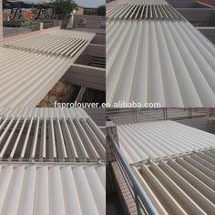 Made in China new product balcony pergola opening roof aluminum external waterproof louvers #External, #Pergolas