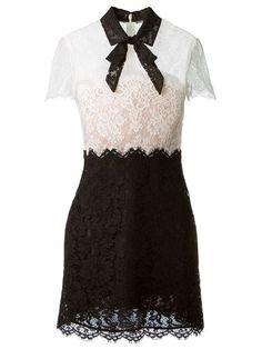 Valentino Bow Collar Lace Dress - Luisa World - Farfetch.com