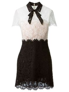 Valentino Bow Collar Lace Dress - Luisa World - Farfetch.com