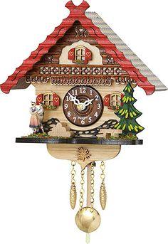 Cuckoo Clock Kuckulino Quartz-movement Black Forest Pendulum Clock-Style 17cm by Trenkle Uhren