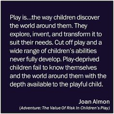 All you need to know about working with kids. The play is a powerfull tool.