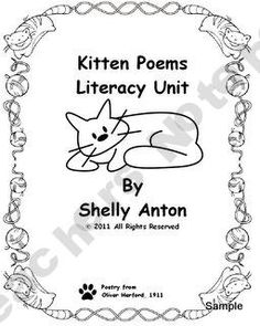 Kitten Poetry Teaching Unit