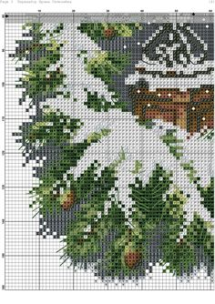 lanterna magica-5 Xmas Cross Stitch, Counted Cross Stitch Patterns, Cross Stitch Charts, Cross Stitching, Ribbon Embroidery, Embroidery Designs, Diy Waterfall, Christmas Cushion Covers, Christmas Embroidery