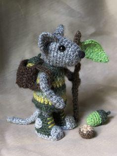 Crochet Patrón de amigurumi ratón por SonsPopkes en Etsy