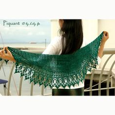 Lily Go Piquant Crocheted Shawl PDF at WEBS | $6.00 Yarn.com