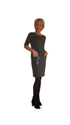 r+42+Sukienka++Ciemna+stal+Zamki+++różne+kolory+w+HeWoj+na+DaWanda.com