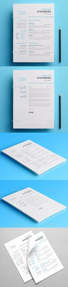 Buy Minimalist Resume by aarleykaiven on GraphicRiver. Minimalist resume is a resume with a clean and simple design. Make your application letter looks professional. Graphic Design Resume, Cv Design, Resume Design Template, Layout Template, Resume Templates, Design Concepts, Design Ideas, Portfolio Web, Portfolio Resume