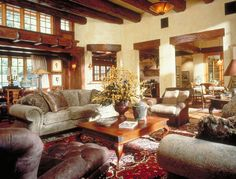 Great Room - Classic, Gorgeous Beams and Wood