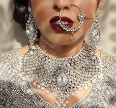 The Indian bride is synonymous with many things, and Indian bridal jewellery is certainly one of them! If you're gearing up for your wedding, check out these jewellery pieces for inspiration on what to buy! Pakistani Bridal Jewelry, Silver Bridal Jewellery, Pakistani Wedding Outfits, Bollywood Jewelry, Indian Wedding Jewelry, Indian Bridal, Indian Jewelry, Hyderabadi Jewelry, Bridal Lehenga Collection