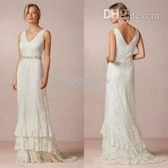 Sheath/Column Wedding Dress Lace Sweep Train With Sash Mermaid Wedding Dresses | Buy Wholesale On Line Direct from China