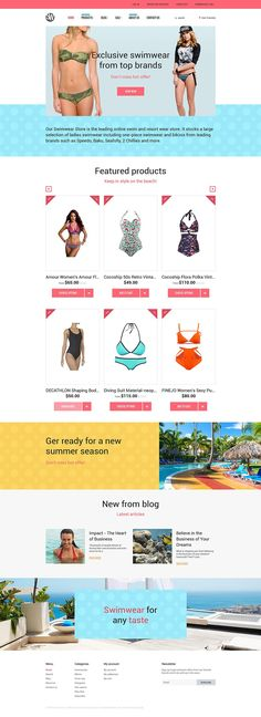 18+ Beautiful Ladies Fashion, Clothing & Accessories Shopify Themes - Swimwear Store