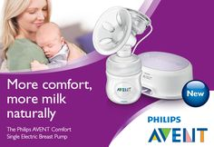 Learn more about our Philips AVENT Comfort single electric breast pump