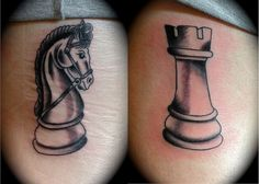 Couple Tattoos Unique Meaningful, Couple Tattoos Love, Unique Tattoos, Small Tattoos, Cool Tattoos, Rebellen Tattoo, Chess Piece Tattoo, Queen Tattoo, Chess Pieces