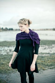 knitted lace wrap. etsy. gorgeous!