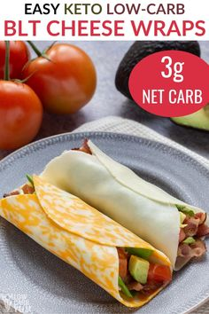 It's so easy to make keto sandwiches using cheese wraps. Making a delicious low-carb BLT is super quick. Healthy Low Carb Recipes, Diet Recipes, Healthy Snacks, Cooking Recipes, No Carb Recipes, Ham Recipes, Chili Recipes, Keto Snacks, Healthy Eating