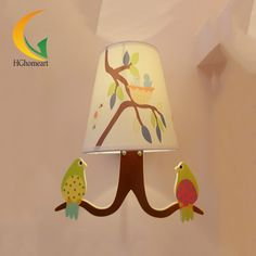 71.52$  Buy now - http://ali7r2.worldwells.pw/go.php?t=32659036154 - Children's garden wall lamp wall lamp fresh bird boys girls study bedroom bedside lamp study lamp wall