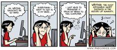 07/21/14 PHD comic: 'Writing'