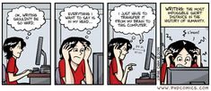 PHD Comics: Writing: The most impossible short distance in the history of humanity.