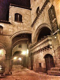 San Pellegrino,medieval quarter, Viterbo, Lazio