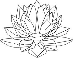 Silver Crystal Lotus
